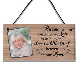 Personalised Memorial Plaque Loss Love In Heaven Bereavement Keepsake Gift Sign