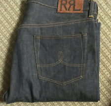 RRL Double RL Selvage Japan raw unwashed denim regied straight leg Jeans mitsui