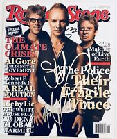 the Police sting signed rolling stone magazine andy summers stuart copeland
