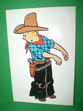 CARTE POSTALE TINTIN COW BOY / HERGE - MOULINSART N° 100 / PRINTED IN EC