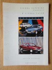 FORD Sierra LASER & Zaffiro CLASSIC 1989 UK inchiostri Designer Option Pack opuscolo