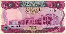 03 Iraq / Irak P64 5 Dinars 1973