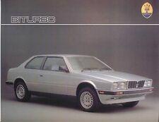 Maserati Biturbo 2500 Coupe circa 1987-88 Original UK Leaflet Sales Brochure