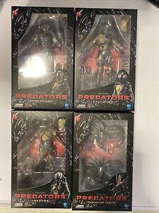 Hiya Toys Exquisite Mini Predators Set Of 4 Predator 1:18 Scale Action Figures.
