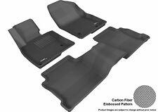 Fits 14-17 Mazda Mazda6 1ST 2ND KAGU Carbon Pattern Black Custom Fit Floor Mat