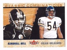 2002 Fleer Tradition Classic Combinations Kendrell Bell/Brian Urlacher 1002/2000
