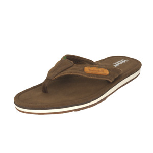 Timberland Earth Keepers Handcraft Men's Thong Sandals SZ 12 Canvas Brown 5161A