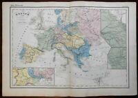 Napoleonic Europe France Britain Ottoman Empire Austria Prussia 1859 map