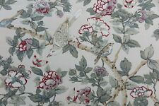 """Sanderson Curtain Fabric Design """"caverley"""" 3 Metres Rose and Pewter Linen Blend"""