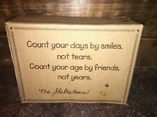 "Boyd's #4426 Friendship ""Count your days"" Resin Wall Plaque Ms. Shakesbeare"