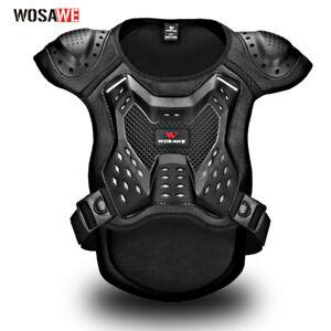 RACING Adult Black Chest Protector MX Motocross Offroad Dirt Bike Vest Guard