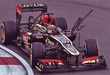 Kimi Raikkonen Signed 8X12 inches Lotus Renault 2013 F1 Photo