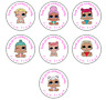 LOL Dolls Baby Personalised Thank You Stickers Party Bag Sweet Cone Birthday
