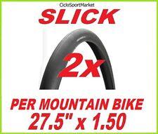 "2 x Neumáticos neumático SLICK 27,5"" x 1.50 para bicicleta MTB / Mountain Bike"
