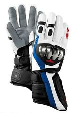 BMW Motorcycle Double R Leather Race Gloves  - S1000RR - SIZE 10 - 10.5