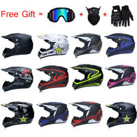 Off-road Motorcycle Helmet Motor Bike Motocross Racing Helmet + 3Pcs Free Gift