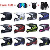 Off-road Motorcycle Helmet Motor Bike Motocross Racing Helmet + 3Pcs Free Gift