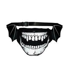 Kreepsville 666 Skull Bat Wings Goth Punk Horror Hip Pouch Fanny Pack Bag Bghps