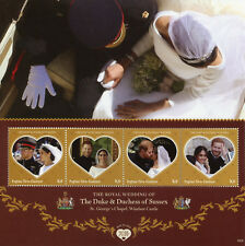 Papua New Guinea PNG 2018 MNH Prince Harry Meghan Wedding 4v M/S Royalty Stamps
