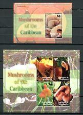 ANTIGUA 2007 Pilze Funghi Mushrooms 4471-74 + Block 645 ** MNH