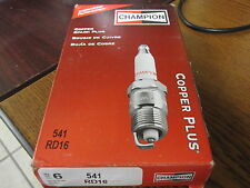 NEW 6 PACK OF CHAMPION INDUSTRIAL SPARK PLUGS # RD16