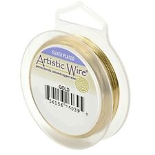 Artistic Wire Silver Plated Gold 20 Gauge 25 feet 41932 Round Shiny