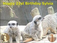 A4 MEERKAT CAKE TOPPERS PERSONALISED AND DECORATED ON EDIBLE RICE PAPER