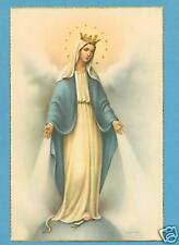 VINTAGE Catholic Large holy card Postcard MARY Our Lady of Grace