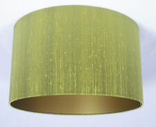 "11"" Lampshade Lime Green Silk with a Gold Lining"