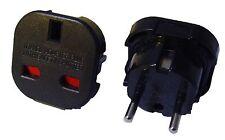 Reisestecker Steckdosenadapter Adapter UK England auf Deutschland Europa schwarz
