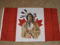 3X5 CANADA NATIVE AMERICAN FLAG INDIAN CANADIAN F073