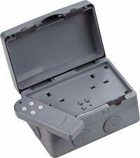 Weatherproof 2 Gang Remote Controlled Outdoor Socket Ip66 Knightsbridge Ip9000r