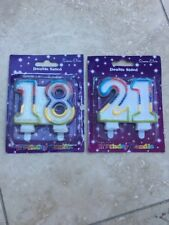 Simon Elvin 18 & 21 Numbered Glitter Candles