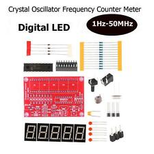 DIY Kits RF 1Hz-50MHz Oscillator Frequency Counter Meter Digital LED Tester SSCA