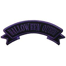 """Halloween Queen"" Name Tag Horror Kreepsville Embroidered Iron On Applique Patch"