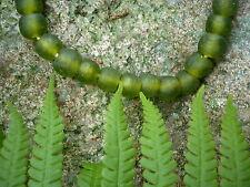 """Strang Altglasperlen 13 mm """"lemon green"""" - Recycled Glass Beads Ghana Krobo"""