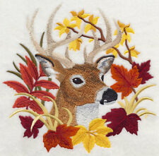 Embroidered Fleece Jacket - Deer in Autumn Leaves H7583 Sizes S - XXL