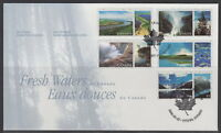 CANADA #1854a-1854e 55¢ FRESH WATERS OF CANADA FIRST DAY COVER