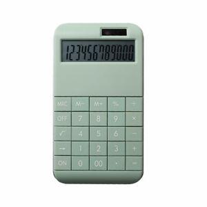 Taschenrechner mit Standardfunktionen - 19 x 10 x 1,2 cm - grün -
