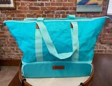 California Innovations Teal Turquoise 2-in-1 Insulated Hot Cold Tote Carrier New