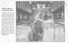 Mail Room Overland Train Sorting Employees Postal Scene Antique Postcard K30337