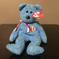Ty Beanie Babies Addison The Blue Baseball Bear Birthday May 20, 2001