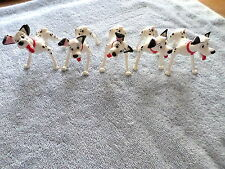 "LOT OF 5 - 101 DALMATIANS POSEABLE PONGO'S - 3"" TALL - MOVEABLE HEAD & LEGS"