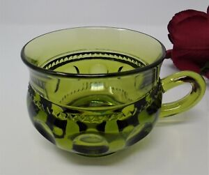 Indiana King's Crown or Thumbprint Avocado Punch Cup