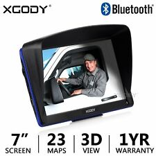 "XGODY 886 7"" Touch screen Car Truck GPS Navigation SAT NAV Bluetooth 8GB US"