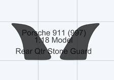 Porsche 911 997 1:18 scale model. CLEAR rear qtr/wing Stone guard Foil