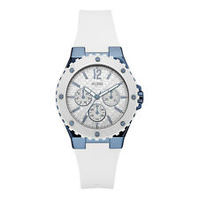 Guess Ladies Multi-Function,White Tone,Stainless Case,Silicone Watch U0149L6