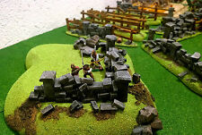 warhammer, 40k war game SCENERY  HILLS WITH WALL PRO PAINT  COLLINA ROCCIOSA