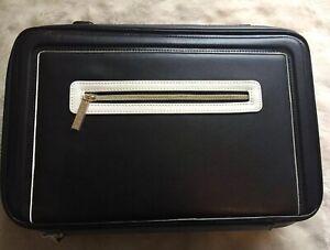 ESTEE LAUDER Black Travel Vanity Case With Handle & Front Zipper Pocket New!