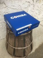 Cohiba Blue Clasico Empty Wooden Cigar Box 8.25x8.25x2